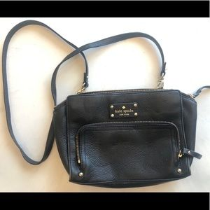 Kate Spade Cross Body Black Leather